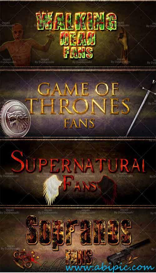 دانلود استایل فتوشاپ سریال های معروف Favorites TV Series Photoshop Styles