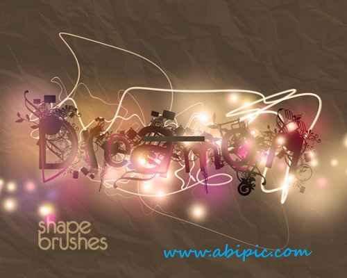 دانلود براش شیپ و شکل های مختلف برای فتوشاپ Shape Brushes