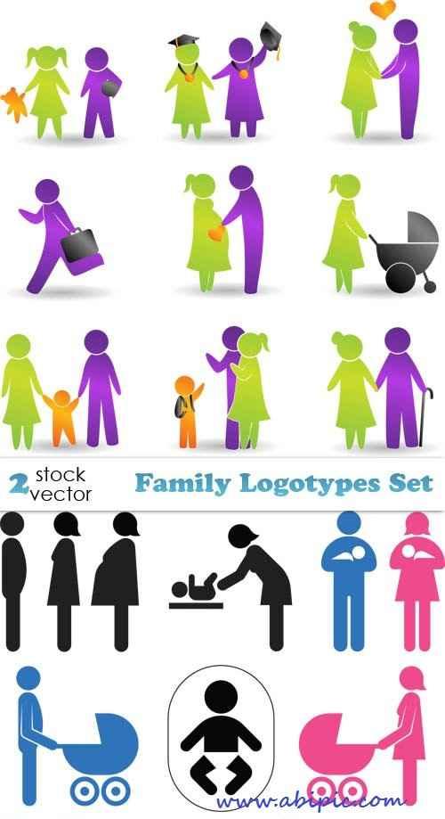 دانلود وکتور لوگو با موضوع خانواده Vectors - Family Logotypes