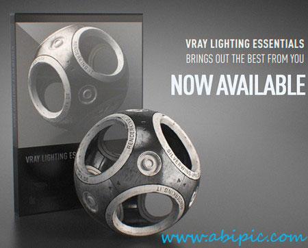 مدل های مختلف نور رندر شده برای سینما 4 بعدی Vray Lighting Essentials for Cinema 4D