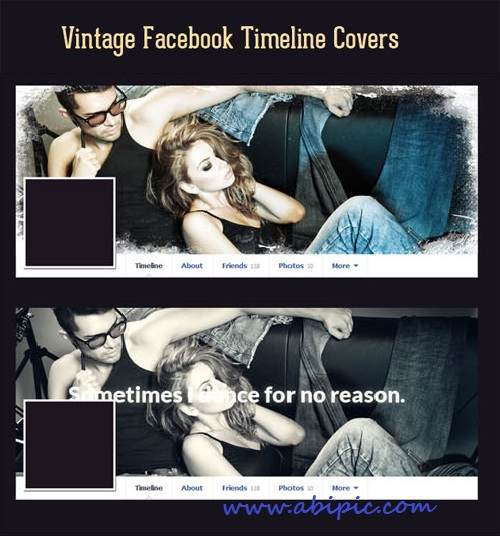 دانلود کاور لایه باز تایم لاین فیس بوک شماره 10 Vintage Facebook Timeline Covers