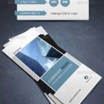 طرح ایندیزاین بروشور 3 لت شرکتی و مدرن Modern & Corporate Trifold Brochure