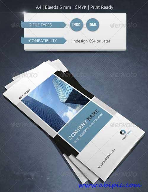 دانلود طرح ایندیزاین بروشور 3 لت شرکتی و مدرن Modern & Corporate Trifold Brochure Template