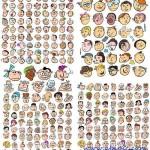 دانلود وکتور چهره های با مزه کارتونی شماره 2 Funny faces in vector