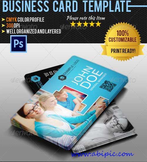 دانلود طرح لایه باز کارت ویزیت آموزشی Education Business Cardض