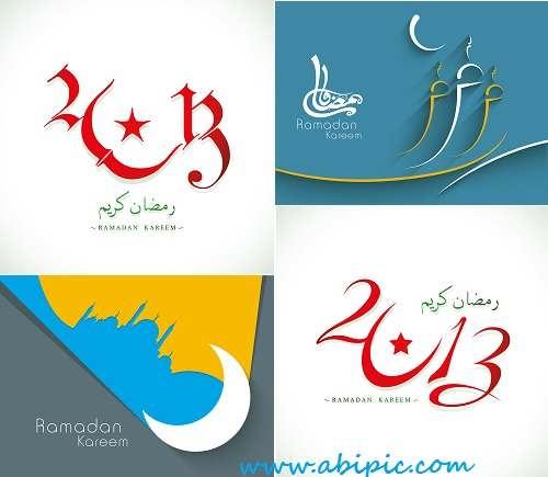 دانلود تصاویر وکتور ماه مبارک رمضان Stock Vector - Ramadan