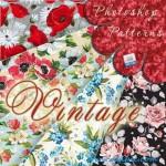 دانلود پترن گلدار فتوشاپ Vintage Floral Photoshop Patterns