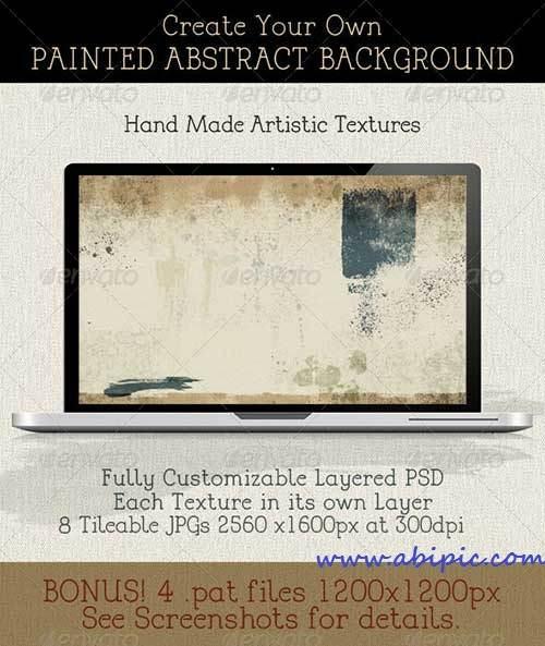 طرح لایه باز ساخت بکگراند نقاشی شده Create a Modern Abstract Painting Background