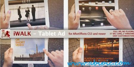 دانلود افترافکت تبلت iWalk Tablet Ad After Effects Project