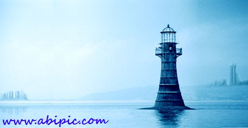 دانلود طرح لایه باز فانوس دریایی PSD Lighthouse