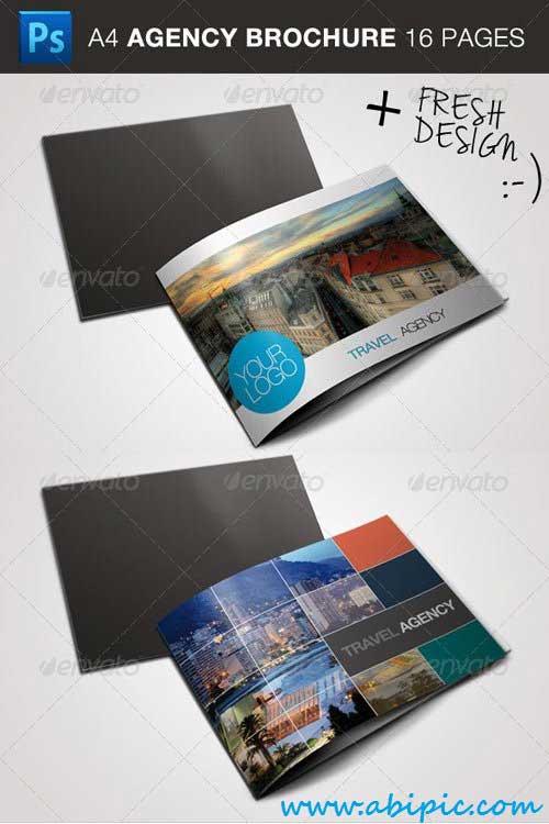 دانلود بروشور سه لت آزانس های مسافرتی Travel Business Brochure