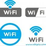 دانلود وکتور لیبل وایرلس Vectors Wi-Fi Zone Labels