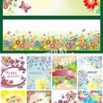 دانلود وکتور کارت با طرح گلدار سری 3 Floral cards Vectors