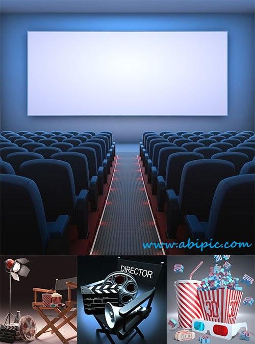 دانلود تصاویر استوک سینما و استودیو Stock Photo Cinema Studio