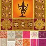 دانلود وکتور پترن و الگوهای هندی Indian patterns Vector