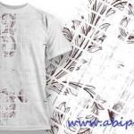 دانلود وکتور طرح روی تی شرت شماره 3 T-Shirt Vector Design