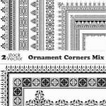 دانلود وکتور کادر و حاشیه طراحی شماره 12 Vectors – Ornament Corners