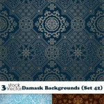 دانلود وکتور پس زمینه 56 با طرح گلدار Vectors Damask Backgrounds