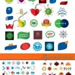 دانلود وکتور لوگو شماره 9 Logo vector set