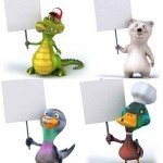 دانلود تصاویر استوک حیوانات بامزه با بنر HQ Images Animals With Banner