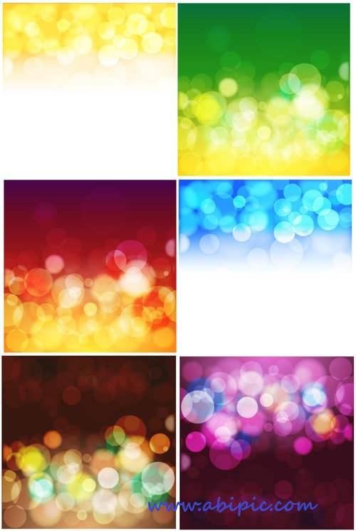 دانلود وکتور و براش بک گراند مات و حباب Blur Bubbles Vector Backgrounds