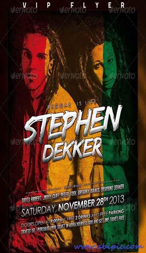 دانلود طرح لایه باز پوستر هنری PSD Artist Flyer