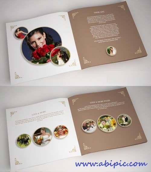 دانلود طرح ایندیزاین آلبوم عکس عروسی 3 Wedding Album Template