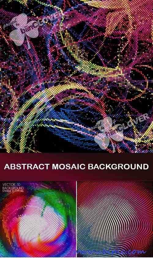 وکتور پس زمینه با طرح موزائیکی و شطرنجی Abstract mosaic background