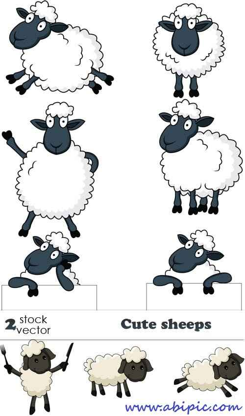 دانلود وکتور گوسفند Vectors Cute sheeps