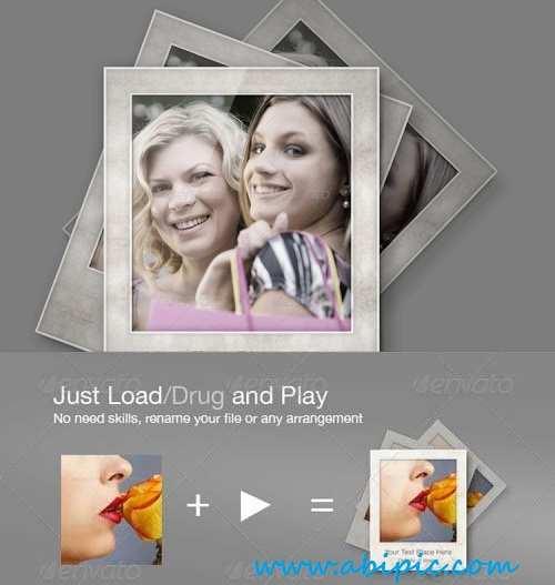 دانلود اکشن فتوشاپ ساخت فریم قاب عکس 2 Photo Frame Action