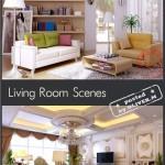 دانلود مدل 3 بعدی دکوراسیون داخلی شماره 3 Living room Interiors Scenes