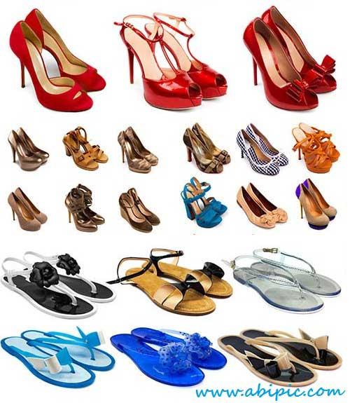 دانلود تصاویر استوک انواع کفش های زنانه Stock Photo female shoes