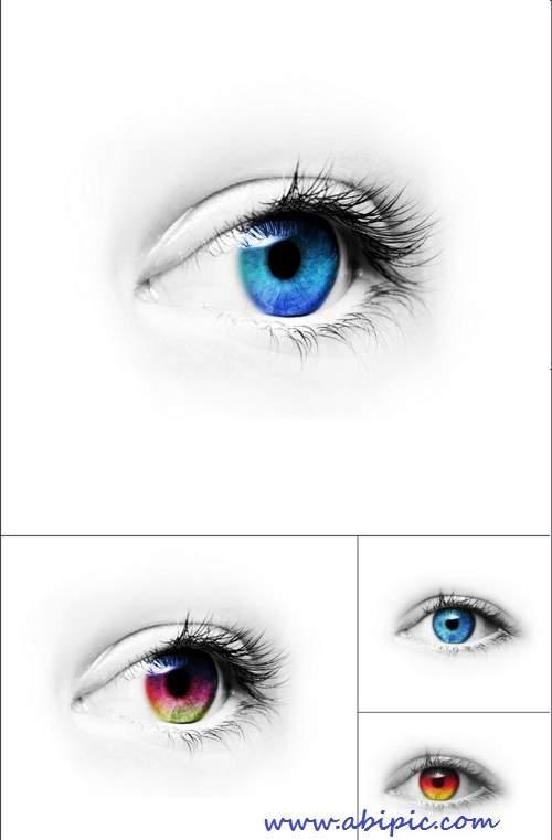 دانلود تصاویر استوک چشم های رنگی HQ Images Colored Eyes
