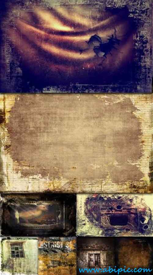 دانلود تصاویر استوک پنجره گرانژ (قدیمی) Grunge Backgrounds Broken Windows