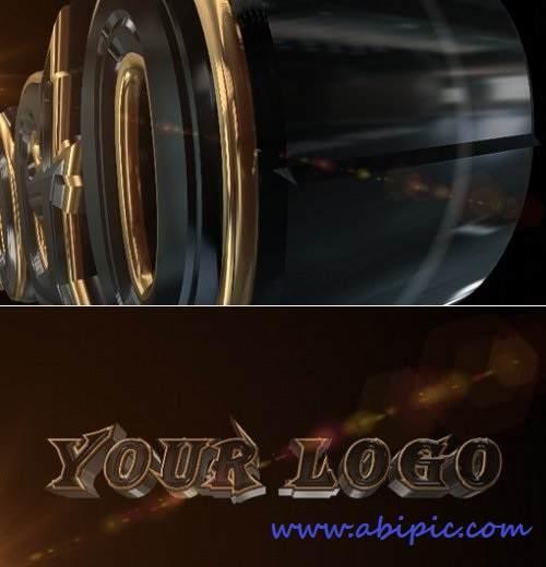 دانلود افتر افکت نمایش 3 بعدی لوگو و متن After Effects Project Stylish 3D Logo