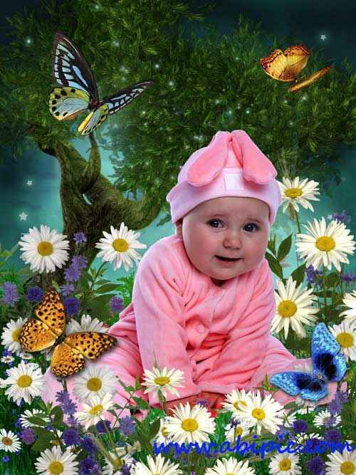 دانلود فون عکس زیبای کودک Template for kids my sweet Bunny