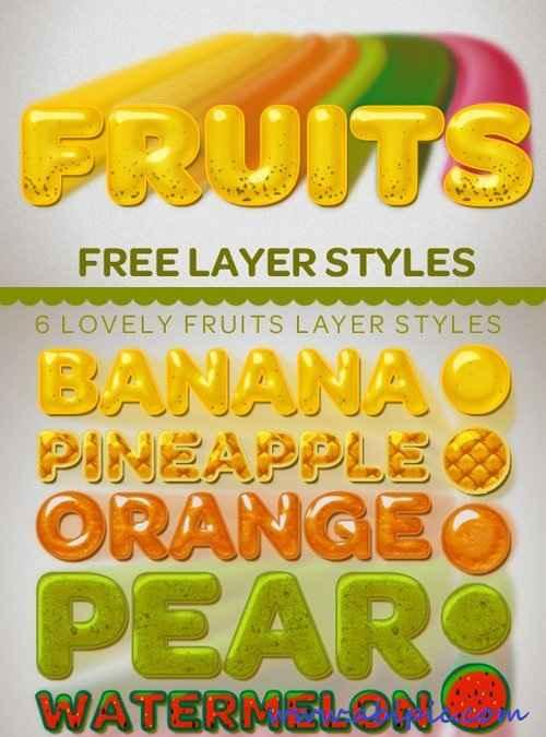 دانلود استایل فتوشاپ میوه ها Fruit Styles for Photoshop