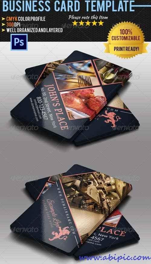 دانلود کارت ویزیت لایه باز رستوران و آشپزها Restaurant & Chef Business Card