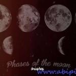 دانلود براش حالت های مختلف ماه شماره 3 ABR Brushes – Phases of the moon