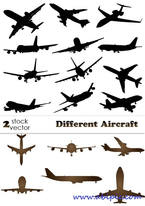 دانلود وکتور هواپیما Vectors Different Aircraft