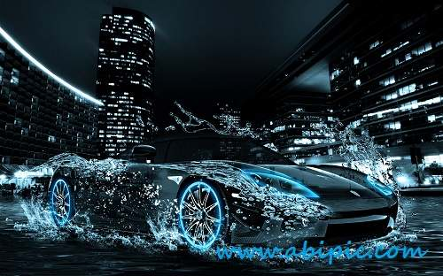دانلود سورس لایه باز فتوشاپ ماشین در آب PSD Water car