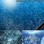 دانلود براش حباب زیر آب Water Bubbles Underwater Photoshop Brushes