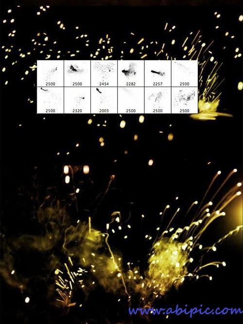 دانلود براش آتش و جرقه Sparks and Fire Photoshop Brush