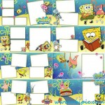 دانلود فون آتلیه کودک Cartoon Photobook SpongeBob SquarePants