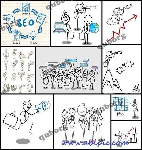 وکتور با مفهوم سازمان ها و شرکت های موفق Stock Vector Success Organization
