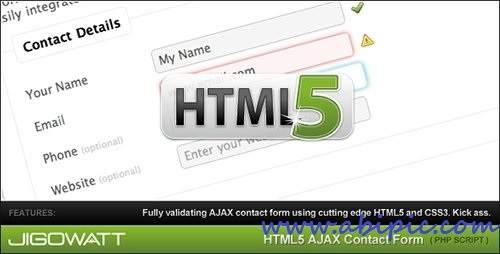 دانلود اچ تی ام ال 5 فرم تماس با ما HTML 5 AJAX Contact