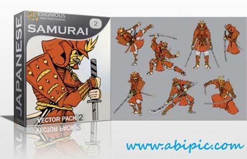 دانلود وکتور سامورایی Samurai Photoshop Vector