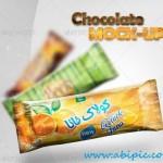دانلود موک آپ بسته بندی شکلات Chocolate Candy Bar Mock-Up