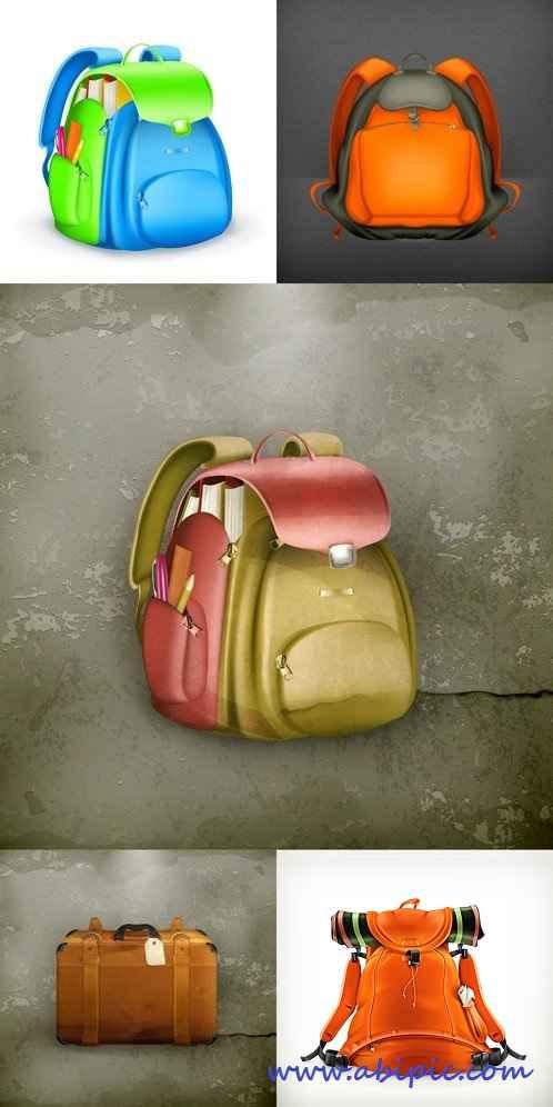 دانلود وکتور انواع مختلف کیف و کوله پشتی Diffrent Bag Vector
