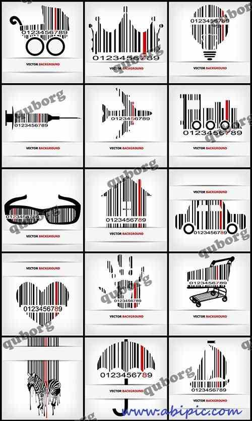 دانلود وکتور بارکد های خلاقانه Stock Vector Creative Barcode